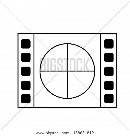 line film countdown to projection of movie, vector illustration