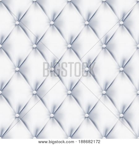 Quilted Upholstery fabric White seamless vector abstract background