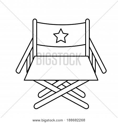 line director seat to cinematography production, vector illustration