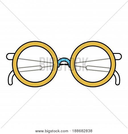 color sectors silhouette of glasses icon vector illustration