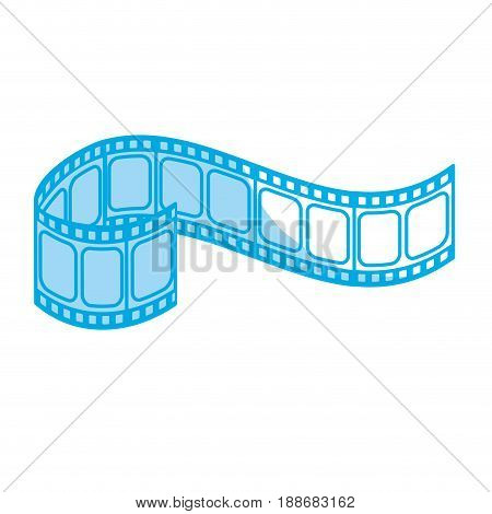 silhouette filmstrip to studio scene in projection, vector illustration