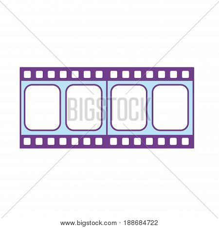 filmstrip to studio scene in projection, vector illustration