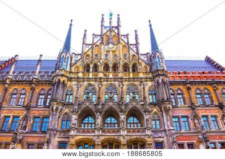 The famous old Munich city hall at Germany