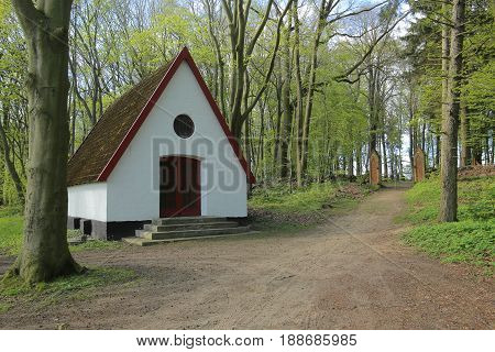 Chapel In Front Of Waldfriedhof (forest Cemetery) In Dambeck Near Greifswald, Germany