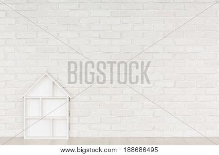 White Brick Wall Baby Room