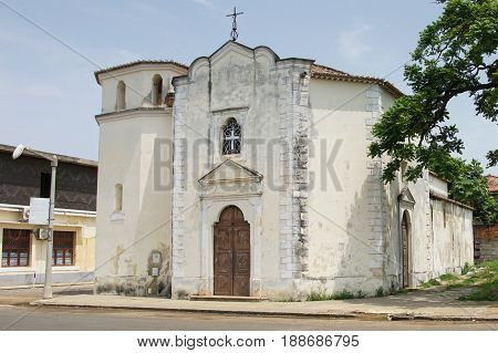 Church in Sao Tome city, Sao Tome and Principe, Africa