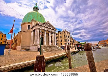 Canal Grande And San Simeone Piccolo Church View In Venice