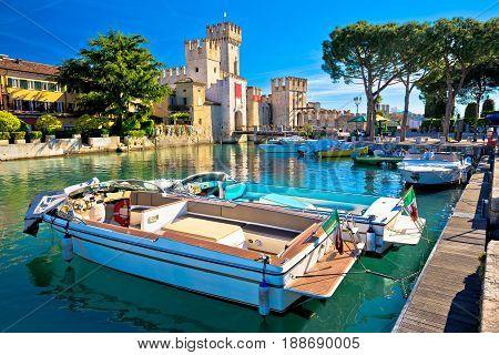 Lago Di Garda Town Of Sirmione View,