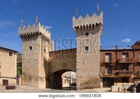 Puerta Baja (low Door) In Medieval Town Of Daroca, Zaragoza Province, Aragon,spain