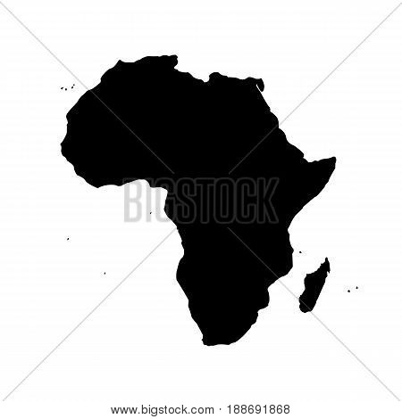 Map of Africa. Isolated vector illustration on white background.