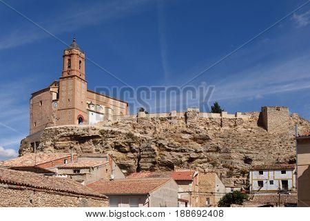 Village of Paracuellos de Giloca Zaragoza province Aragon Spain