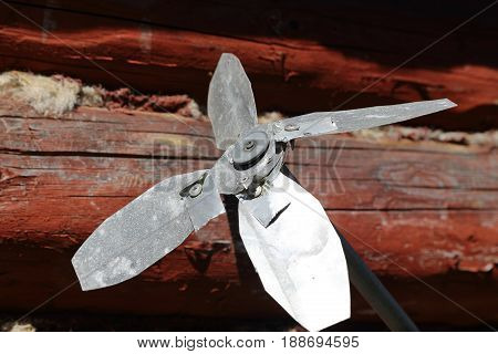 the fan for repelling the rodents in the fields.