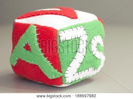 Stuffed handmade gift for newborn baby - soft block.