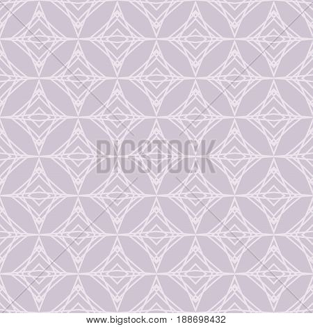 Abstract geometric pattern in grayish purple color. Seamless geometric background. Abstract vector pattern for webpage design