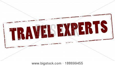 Stamp with text travel experts inside vector illustration