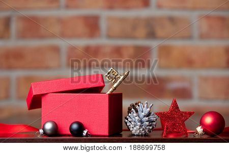 Gift, Key, Toy And Christmas Decorations