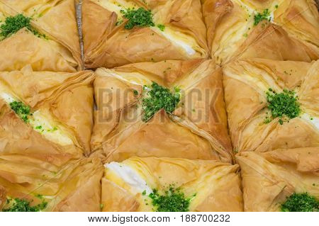 Eastern Sweets With Cottage Cheese. Top View. Close-up