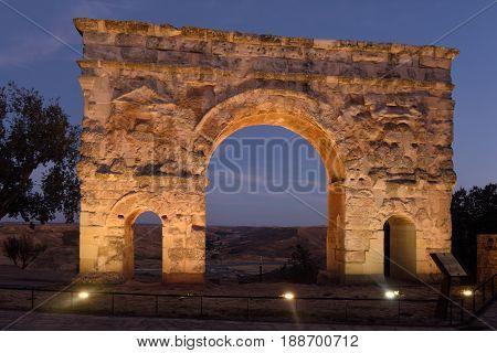 Roman arch of Medinaceli (2nd-3rd century) Soria province Castilla-Leon Spain