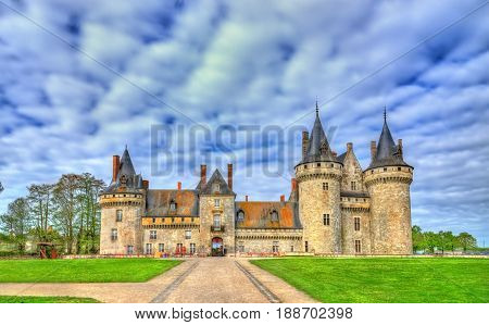 Chateau de Sully-sur-Loire, on of the Loire Valley castles in France, the Loiret department