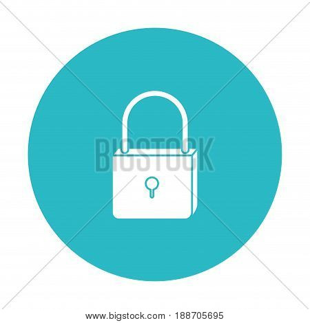 circle light blue with padlock icon vector illustration