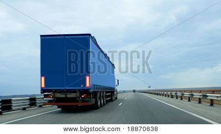 Trailer on road