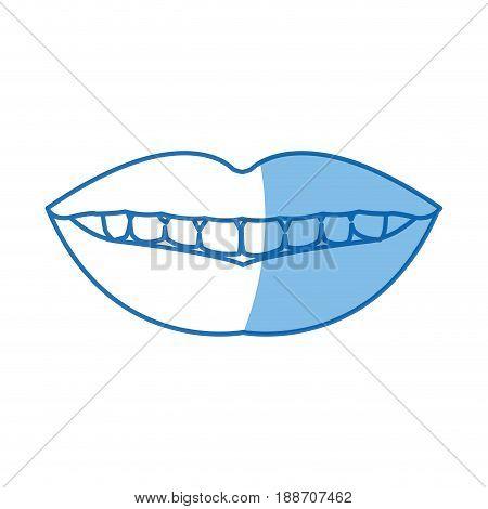 femlae mouth lips teeth smile vector illustration
