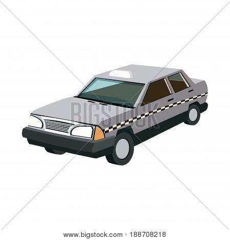 taxi public service sign. transport of passengers vector illustration