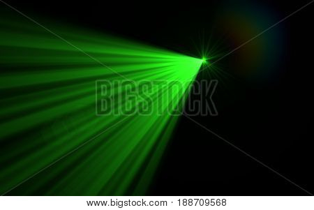 Natural lens flare and big light flare. Rays background