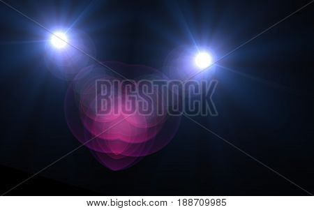 Abstract sun burst and digital lens flare foreground alpha channel
