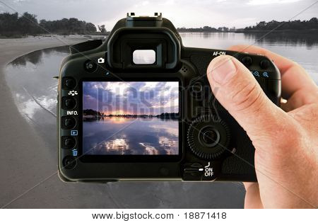 Photographing on the nature