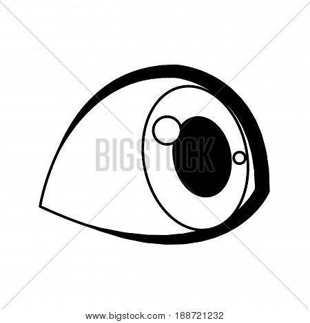 cute cartoon eye kid child eyelashes vector illustration