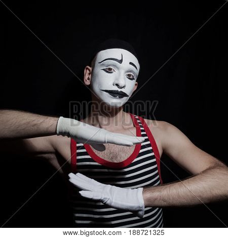 Portrait Of Gesticulating Mime