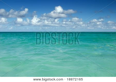 Ocean and the sky