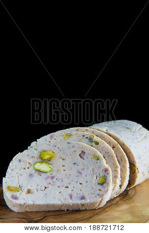 Cold Meat Made Of Chicken And Pistachios