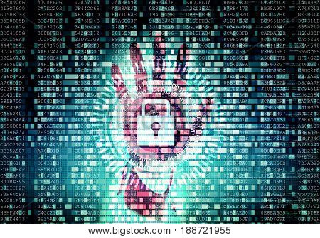 Conceptual image of Data Security and protection System on internet