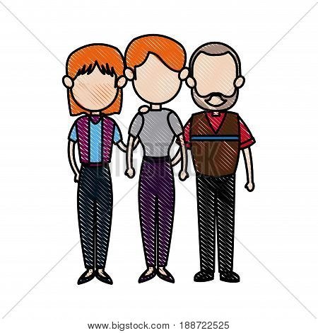 family parent with grandparents embracing image vector illustration