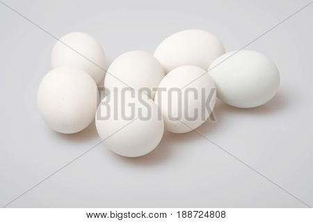 Isolated Group Of Salted Duck Egg