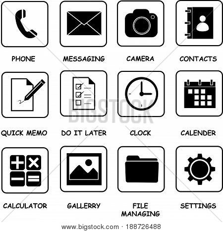 icon basic button for your smart phone