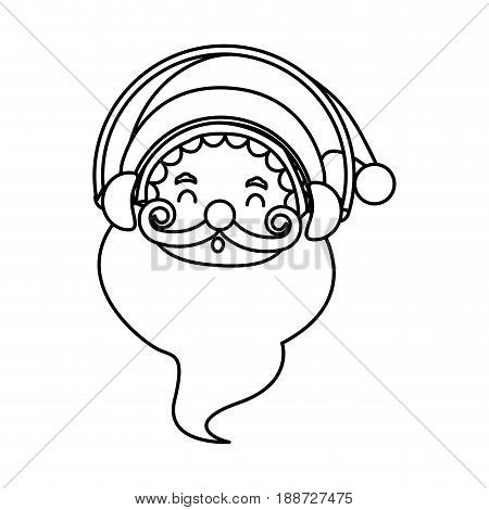 outlined santa claus christmas celebration image vector illustration