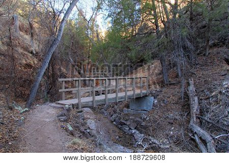 Hiking Trail at Gila Cliff Dwellings National Monument, New Mexico