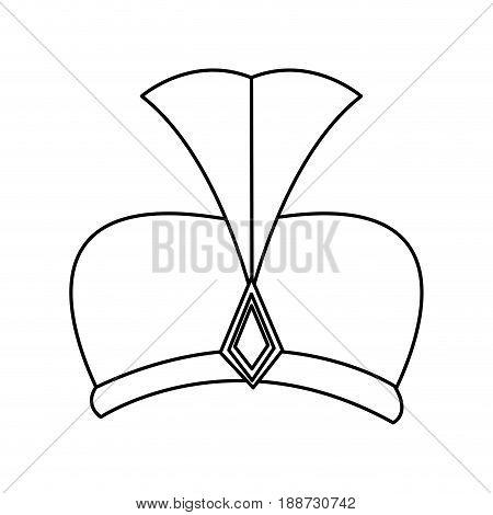 outline hat wear wise kign of manger vector illustration