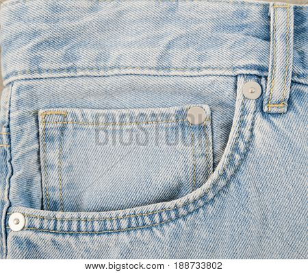 Front view blue jeans