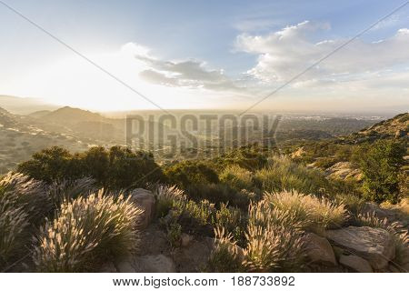 Sunrise view at Santa Susana Pass State Historic Park in the San Fernando Valley area of Los Angeles, California.