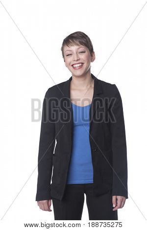 Smiling Hispanic businesswoman