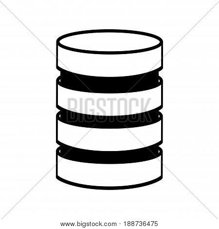 line icon Storage database disks vector graphic design