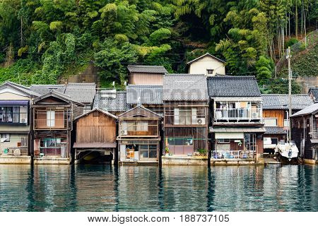 Japanese old town, Ine-cho in Kyoto of Japan