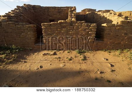 Building in Mesa Verde National Park, Colorado in United States.