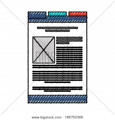 scribble web tab cartoon vector graphic design