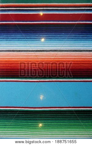 Mexican Serape blanket background. Colorful Mexican style blanket for backgrounds and textures, wallpapers, etc.