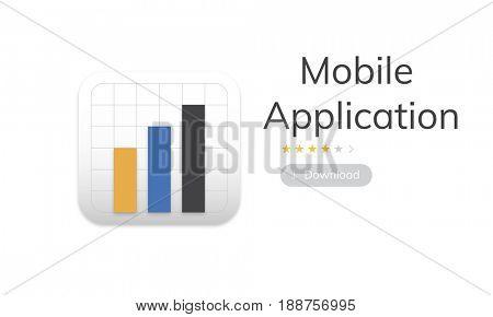 Illustration of mobile application graph download